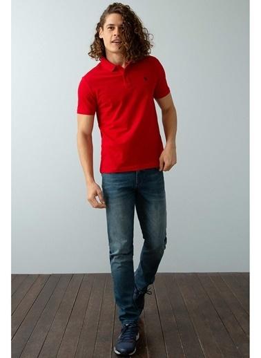 U.S. Polo Assn. U.S. Polo Assn. Polo Yaka Kırmızı T-Shirt Kırmızı